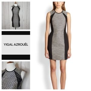 Cut 25 by Yigal Azrouel Leather Panel Shift Dress